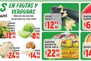 Frutas y Verduras HEB del 28 de mayo al 3 de junio de 2019