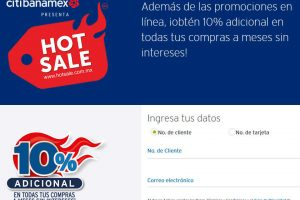 Preventa Hot Sale 2019 Banamex: 10% adicional en compras a MSI registrando la tarjeta