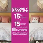 Liverpool: Hasta 15% de bonificación ó 15 msi en muebles y decoración