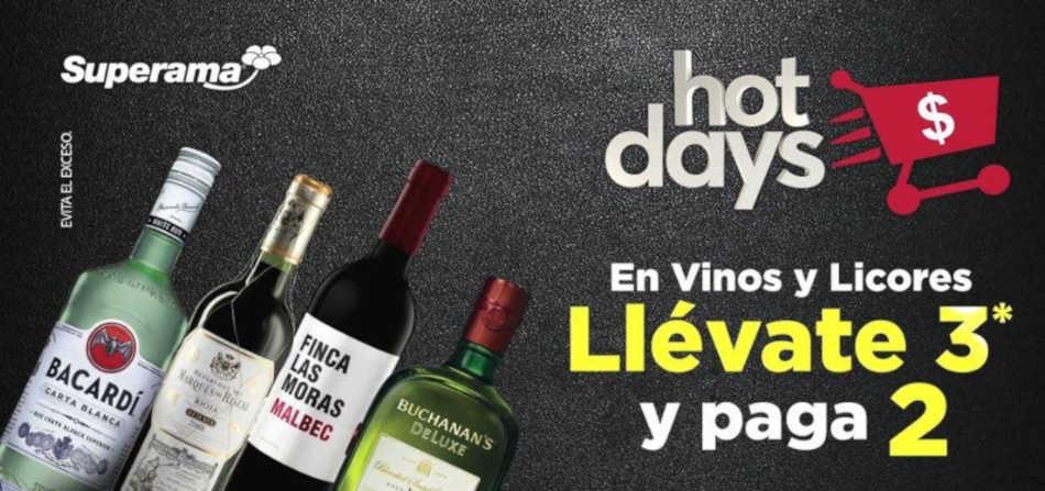 Ofertas Superama Hot Sale Days 2019: 3×2 en vinos y licores