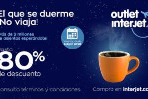 Outlet Interjet 2019: Promociones en Vuelos de hasta 80% de descuento