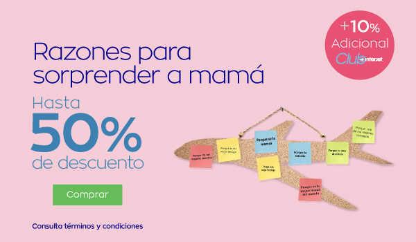 Promoción Interjet Día de las Madres: hasta 50% de descuento en vuelos