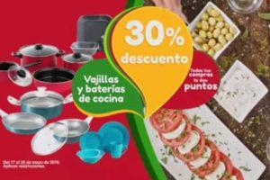 Promoción Soriana: 30% de descuento en vajillas y baterías de cocina