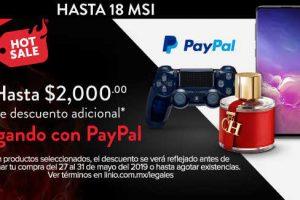 Promociones Linio Hot Sale 2019: Hasta $2,000 de descuento con Paypal