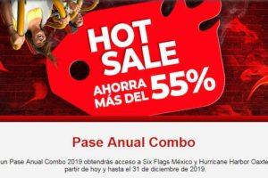 Promociones Six Flags Hot Sale 2019: 55% de descuento en Pase Anual