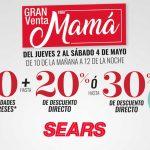 Venta Nocturna Sears Día de las Madres del 2 al 4 de mayo 2019