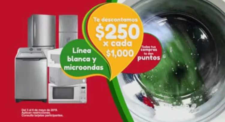 Soriana y Mega Soriana: $250 de descuento en Línea blanca y microondas