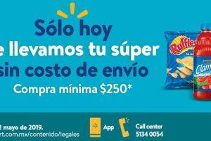 Promoción Walmart: Envió Gratis en pedidos de Súper Jueves 2 Mayo de 2019