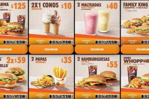 Burger King: Cupones de descuento del 17 de Junio al 13 de octubre 2019