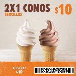 Cupón Burger King - 2x1 en conos de helado sencillos