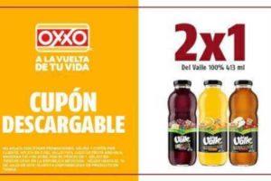 Cupones Oxxo: 2x1 en Jugos del Valle 100% y Paletas Crunch