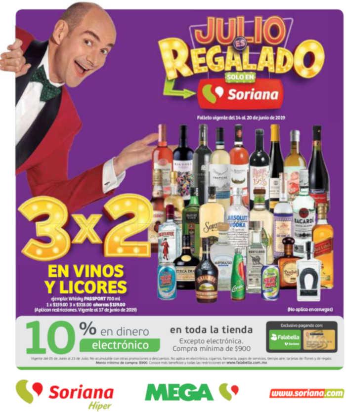 Folleto de ofertas Soriana Julio Regalado del 14 al 20 de junio 2019