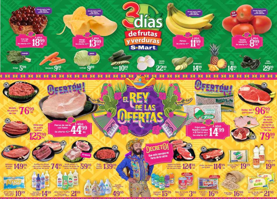 Frutas y Verduras S-Mart del 11 al 13 de Junio de 2019