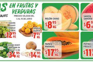 HEB: Frutas y Verduras del 4 al 10 de Junio de 2019