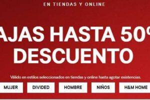 H&M Rebajas hasta 50% de descuento en artículos seleccionados