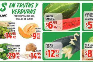 Ofertas HEB Frutas y Verduras del 18 al 24 de junio 2019