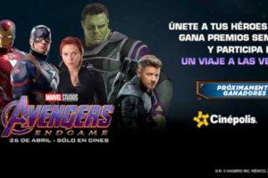 Cinépolis: Matinée Película Avengers Endgame a $15 o 3x$45