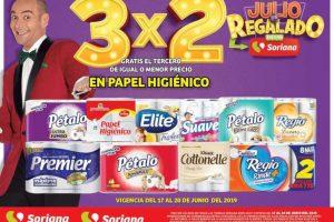 Soriana Julio Regalado 2019: 3x2 en todo el Papel Higienico