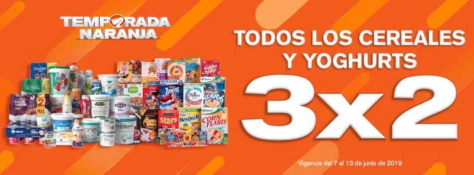 Temporada Naranja 2019 en La Comer y Fresko: 3×2 en Cereales y Yoghurts