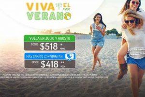 Promoción Vivaaerobus Viva el verano vuelos desde $418 agosto 2019