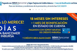 Walmart y Bancomer: 18 meses sin intereses + 1 de bonificación Día del Padre 2019