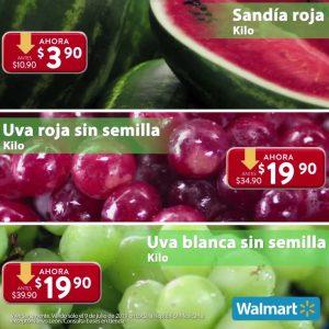 Martes de Frescura Walmart Frutas y Verduras 9 de Julio 2019