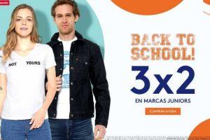 Promoda Ofertas de la semana 3x2 en marcas juniors de Back to School