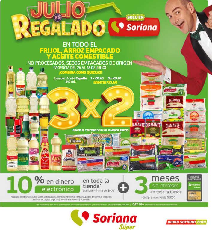 Folleto Julio Regalado Soriana Súper del 26 de julio al 1 de agosto 2019
