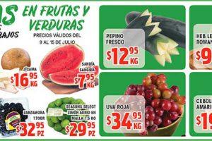 HEB Frutas y Verduras del 9 al 15 de Julio de 2019