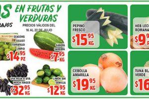 Frutas y Verduras HEB del 16 al 22 de Julio de 2019
