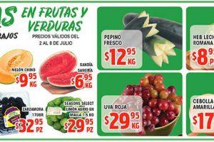 HEB: Frutas y Verduras del 2 al 8 de Julio de 2019