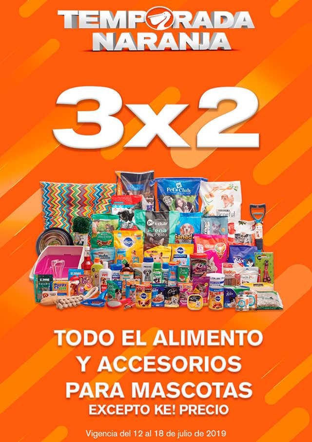 La Comer Temporada Naranja 2019: 3×2 en alimento y accesorios para mascota