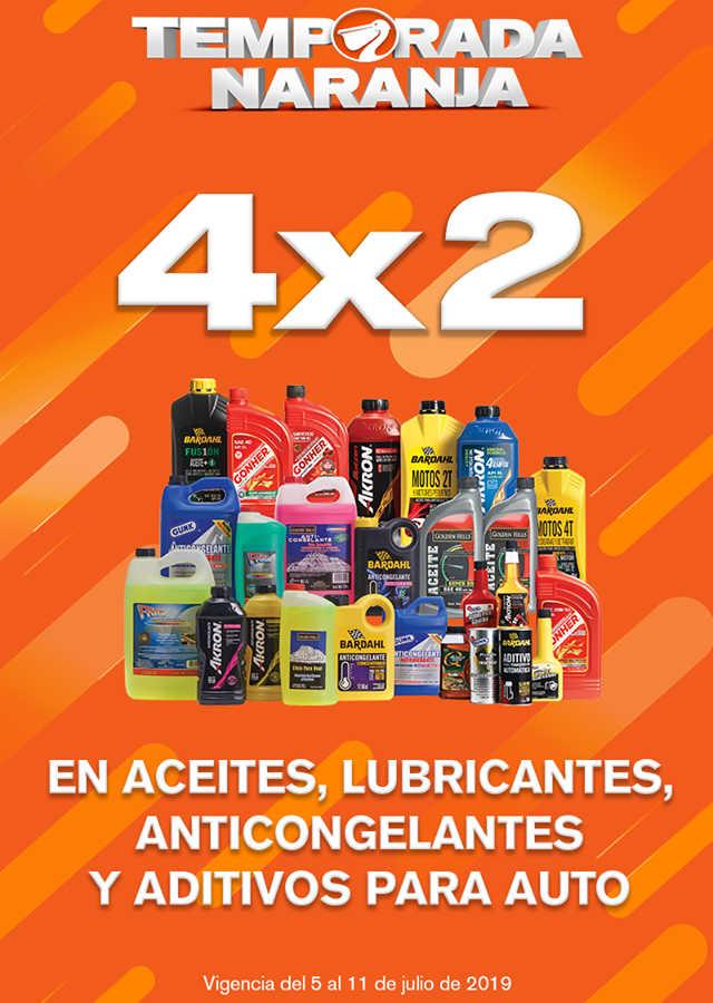 La Comer Temporada Naranja 2019: 4×2 en aceites, lubricantes, anticongelantes y aditivos para auto