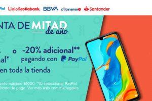 Linio: 20% de descuento adicional en toda la tienda pagando con Paypal