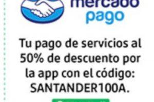 Mercado Pago | 50% off en pago de servicios digitales con Santander
