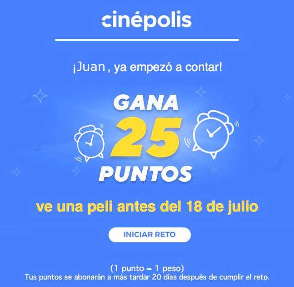 Promoción Retos Club Cinépolis Gana Muchos Premios y Puntos «Dinero»