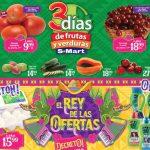 Frutas y Verduras S-Mart del 23 al 25 de Julio de 2019