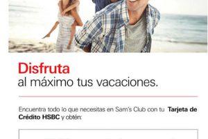 Sam's Club: 18 meses sin intereses y 3 meses de bonificación con HSBC