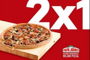 SinDelantal 2x1 en pizzas papa Johns julio 2019