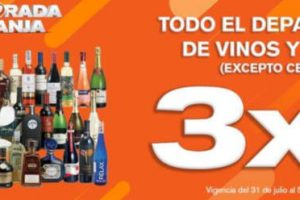 Temporada naranja 2019 3x2 en vinos y licores del 1 al 5 de agosto