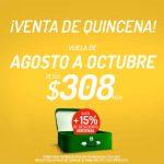 Promoción Venta de Quincena VivaAerobus: Vuelos sencillos desde $308