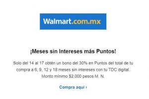 Walmart y Sam's Club - Bono del 30% en puntos BBVA Bancomer con tarjeta digital