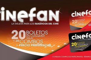 Cinemex - Tarjeta Cinefan 20 entradas y 20 combos a precio preferencial