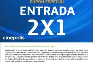 Cinépolis: 2x1 presentando cupón Movistar todo Agosto 2019