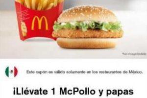 Cupones de descuento McDonald's al 31 de agosto 2019