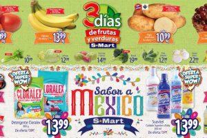 S-Mart frutas y verduras del 27 al 29 de agosto 2019