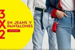 Promoda: 3x2 en jeans y pantalones / hasta 80% de descuento en zapatos