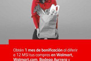 Santander: 1 mes de bonificación en Walmart, Bodega Aurrera y Sams Club