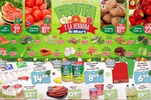 S-Mart frutas y verduras del 20 al 22 de agosto 2019