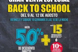 Sears: Gran Venta Especial Back to School del 9 al 12 de Agosto de 2019